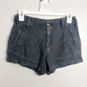 American Eagle Linen Blend Gray Cargo Shorts